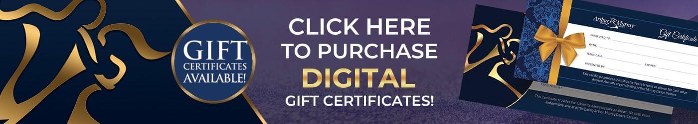 Arthur Murray Instant Gift Certificates